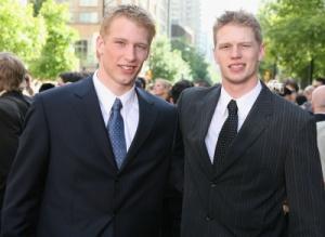 Jordan and Eric Staal