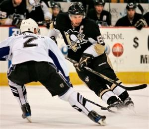 Pittsburgh Penguins' Sidney Crosby did not register a shot all game (AP Photo/Gene J. Puskar)