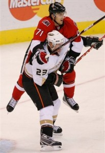 Ducks Senators Hockey